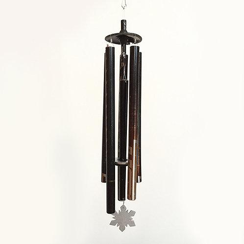 5-Pipe Ski Pole Wind Chime – Black and Copper
