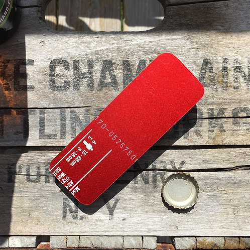 Hand Held Ski Bottle Opener – Metallic Red