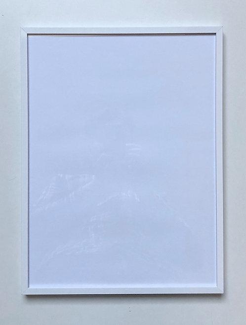White glossy aluminium frame