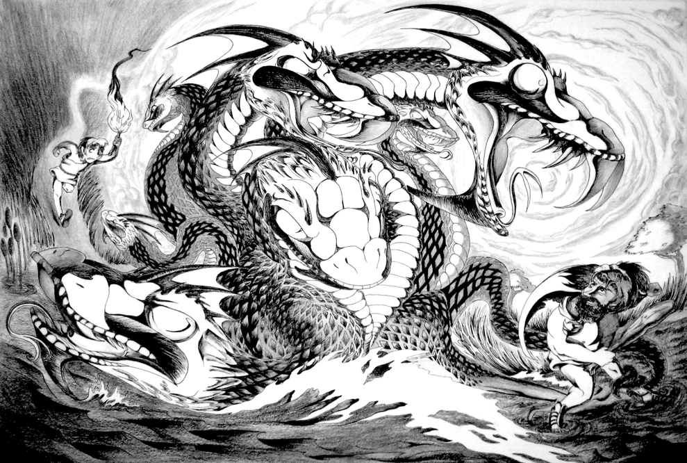 Hercules and Iolaus Battle the Hydra