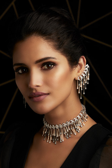 MULTI - LAYERED WORKS OF ART CRAFTED WITH DIAMONDS & MATT BLACK RHODIUM, IN TWO-TONE GOLD & BRUSHED GOLD FINISH.
