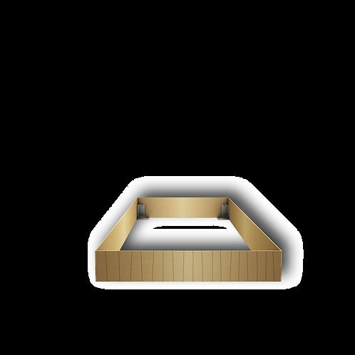 Grabeinfassung mit strukturierten schmale Wangen, Messing