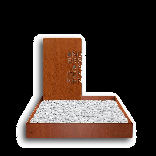 Urnengrab Edge, Cortenstahl
