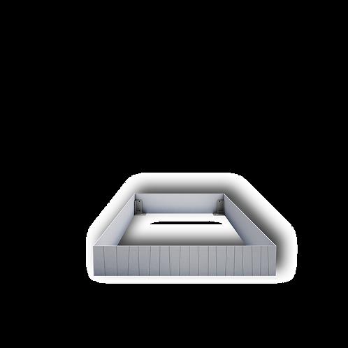 Grabeinfassung mit strukturieren schmale Wangen, Edelstahl