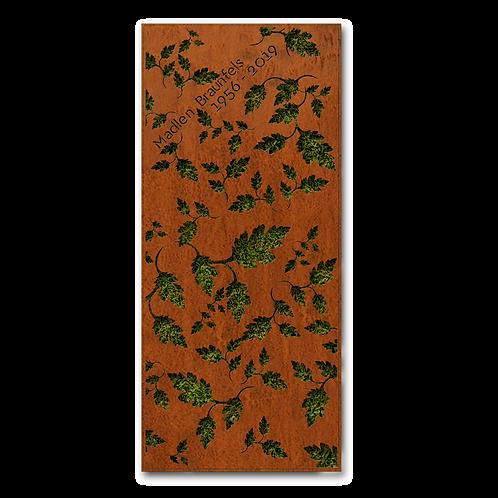 Liegendgrabmal und Grababdeckung Flora, Cortenstahl