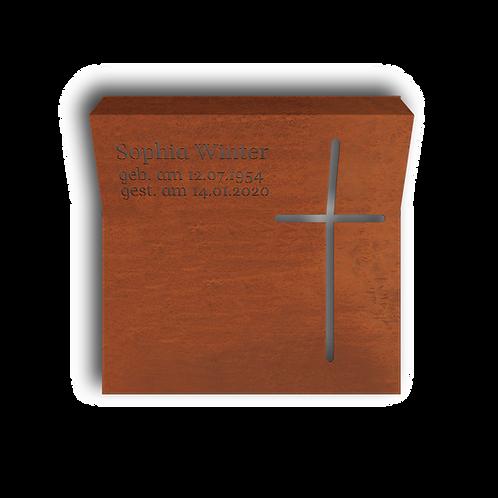 Urnengrab Christ, Cortenstahl