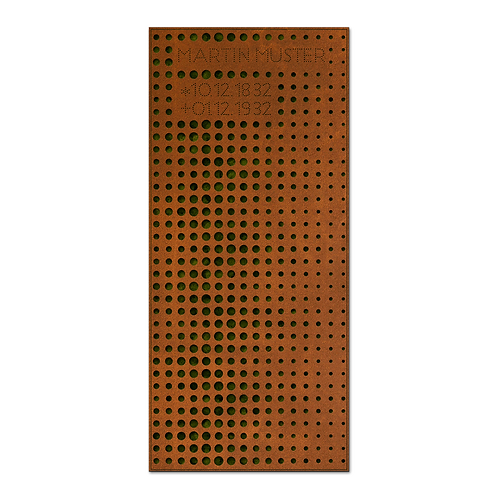 Liegendgrabmal und Grababdeckung Filter, Cortenstahl