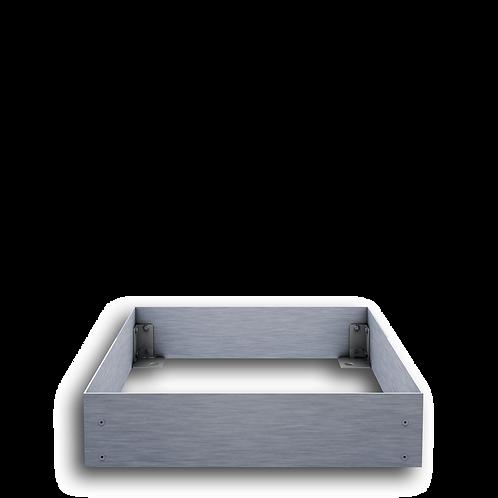 Urnengrabeinfassung mit schmalen Wangen, Edelstahl