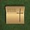 Thumbnail: Urnengrab mit Kreuz Motiv, Messing