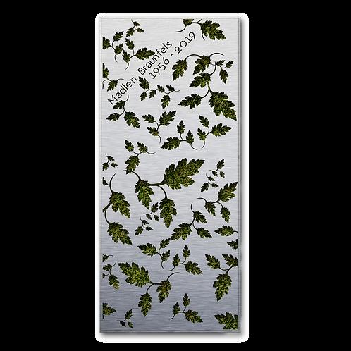 Liegendgrabmal und Grababdeckung Flora, Edelstahl