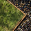 Thumbnail: Urnengrabeinfassung mit strukturierten, schmalen Wangen, Cortenstahl
