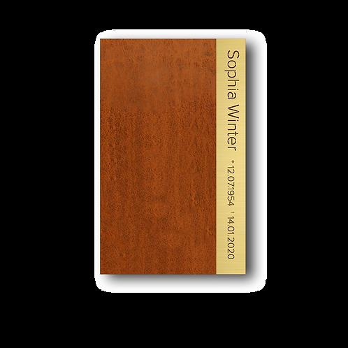 """Grabmal, Modell """"Book"""", Cortenstahl"""