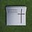 Thumbnail: Urnengrab Kreuz, Edelstahl