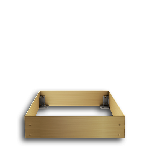 Urnengrabeinfassung mit schmalen Wangen, Messing