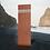 Thumbnail: Schmale Grabstehle aus Cortenstahl