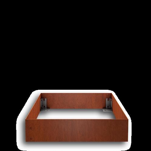 Urnengrabeinfassung mit schmalen Wangen, Cortenstahl