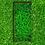 Thumbnail: Grabeinfassung mit strukturierten schmale Wangen, Messing