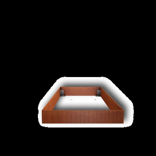 Grabeinfassung mit strukturierten, schmalen Wangen, Cortenstahl