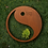 Thumbnail: Grabkissen Ying und Yang in Cortenstahl