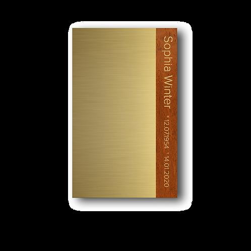 "Grabmal, Modell ""Book"", Messing"