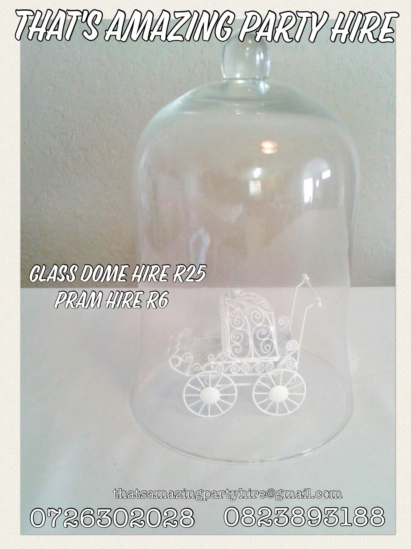 Glass Dome & Pram
