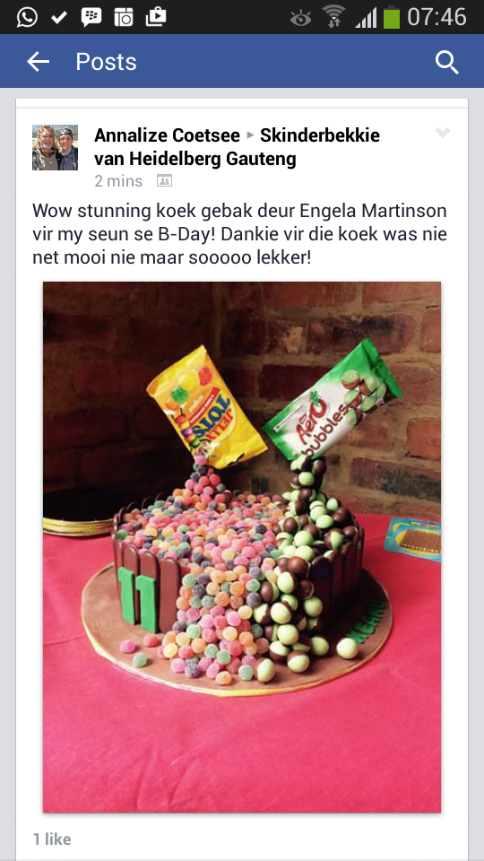 Thank You for sharing our cake
