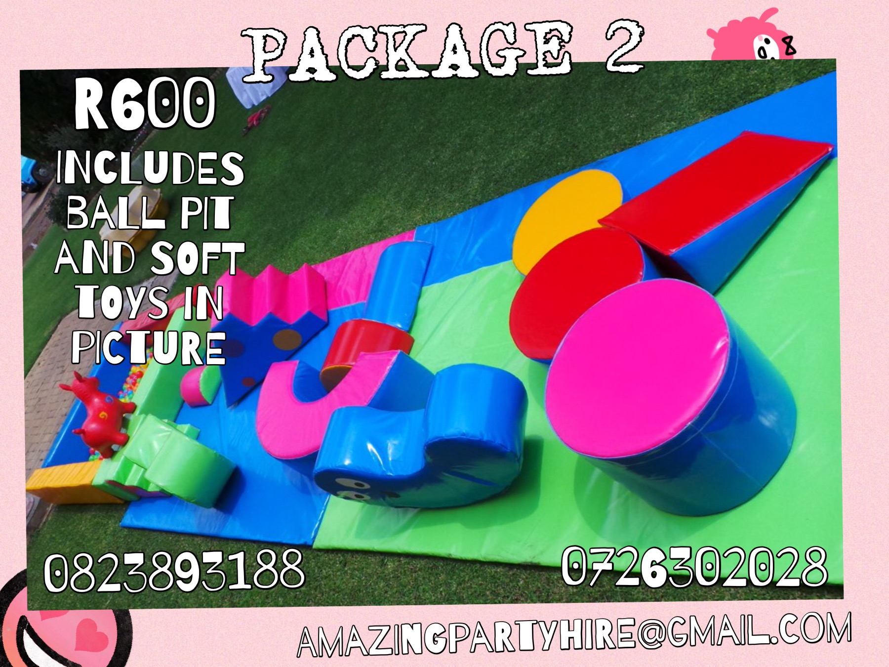 Package 2 R600 per day