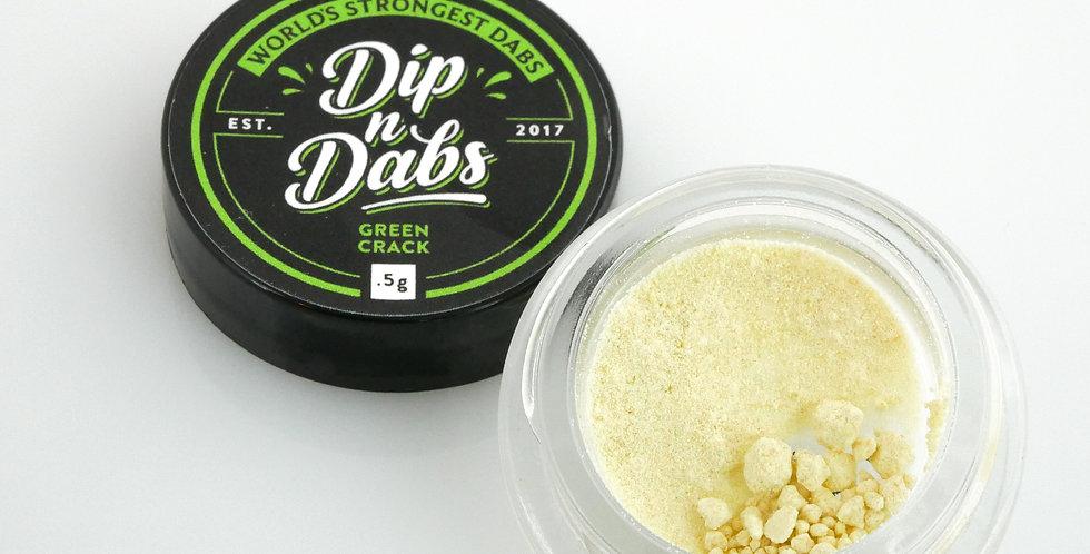 Dip n' Dabs - Green Crack THCa Crystal, 0.5g