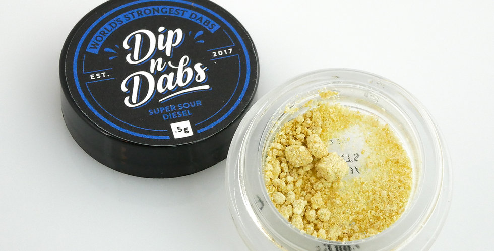 Dip n' Dabs - Super Silver Haze THCa Crystal, 0.5g