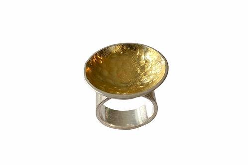 Silver and Gold Circle Ring