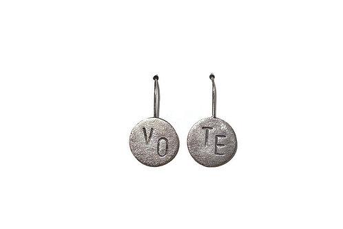 VOTE Sterling Silver Earrings