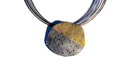 Fine silver and gold necklace