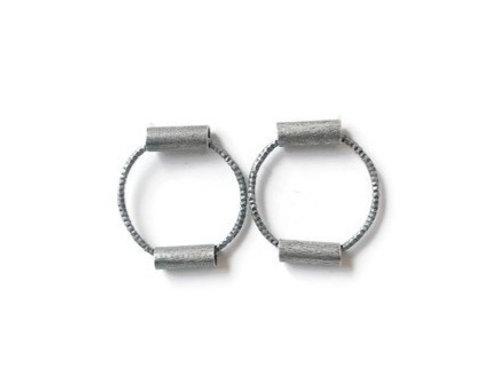 Circle and Tube Earrings
