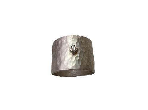 Wide Band Diamond Ring