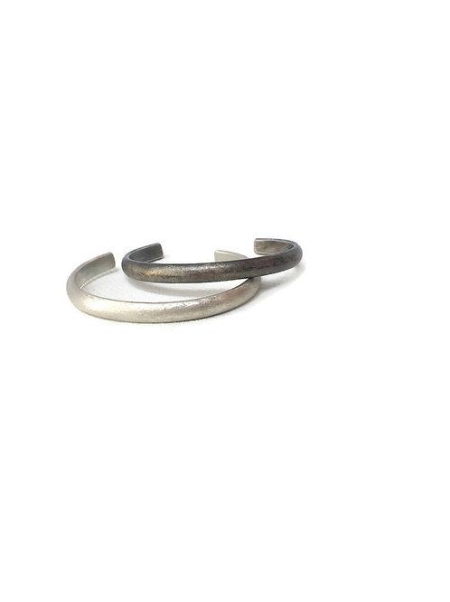 Half Round Sterling Silver Cuff