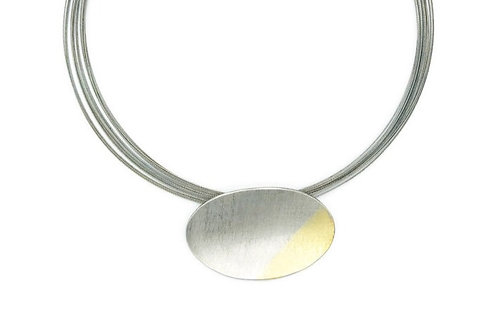 Oval and Gold Necklace