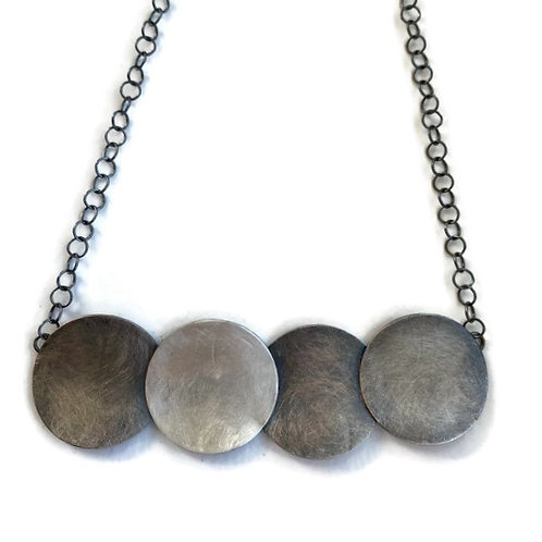 circle sterling silver necklace with chain