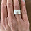 Thumbnail: Wide Band Ring with Organic Gemstone Accent