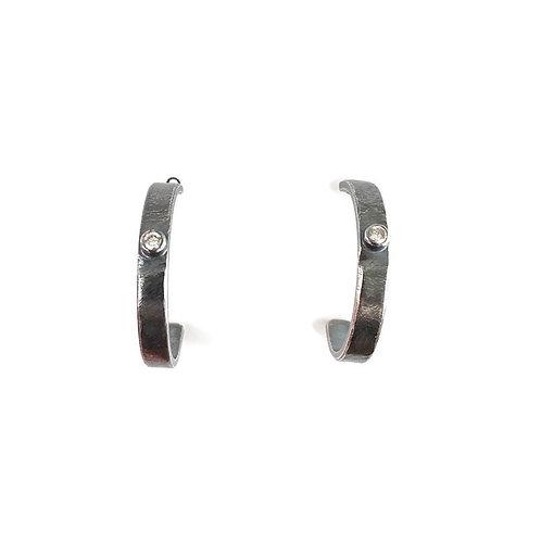 Petite Diamond Hoop Earrings