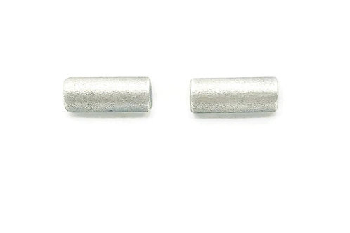 Simple bar earrings in sterling silver.