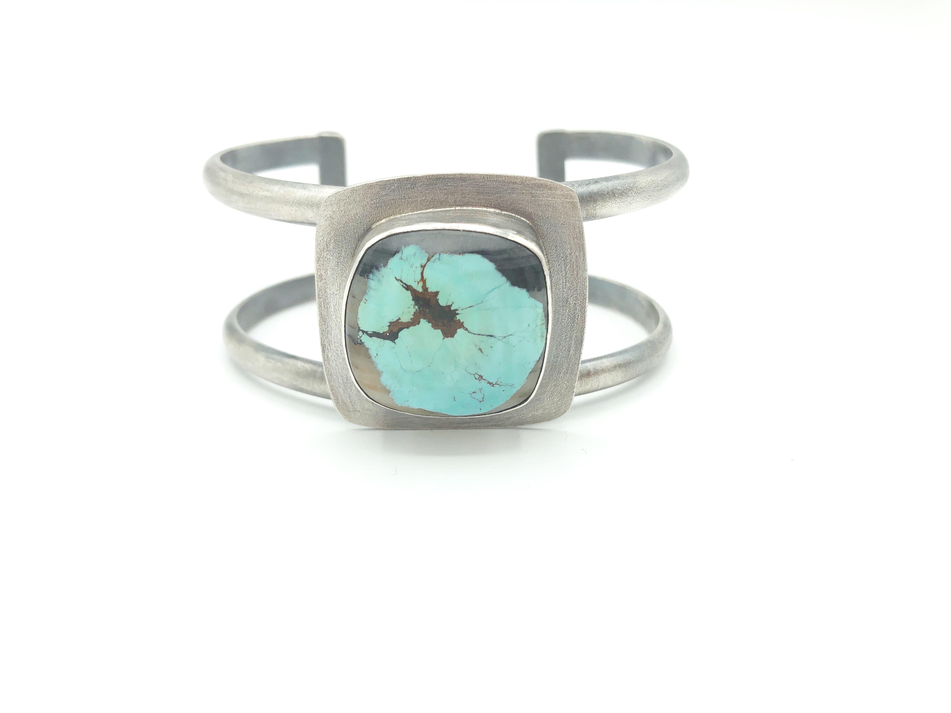 Sterling & Samara Turquoise Cuff