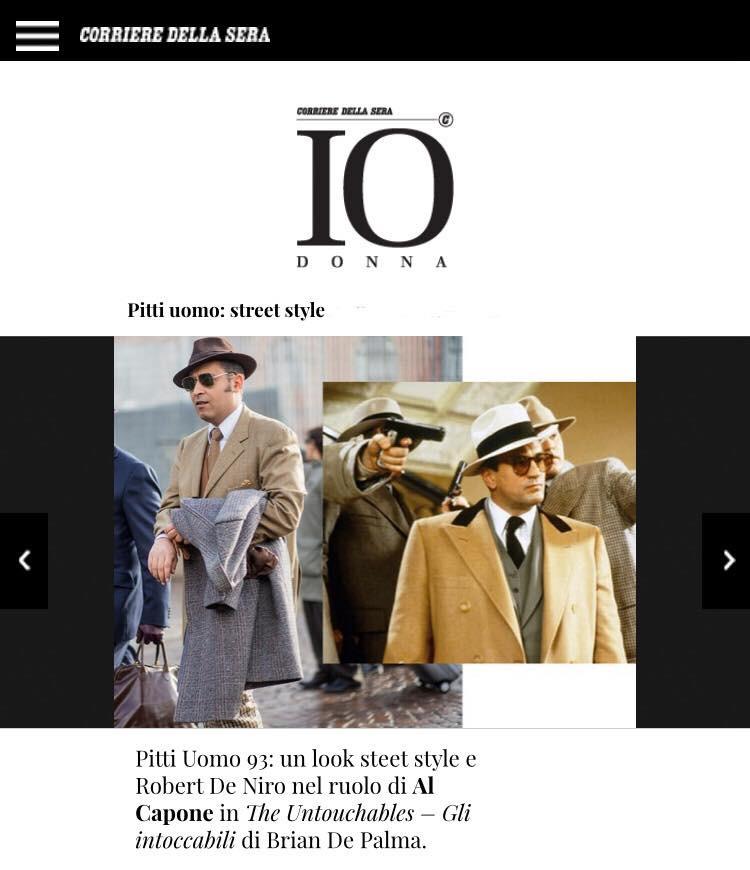 Comparé á El Capone dans Corriere Della Sera