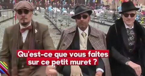 Les Barons dans le Quotidien de Yann Barthès !!!  PITTI UOMO 92