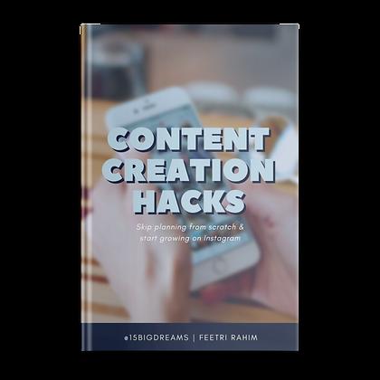 Content Creation Hacks eBook
