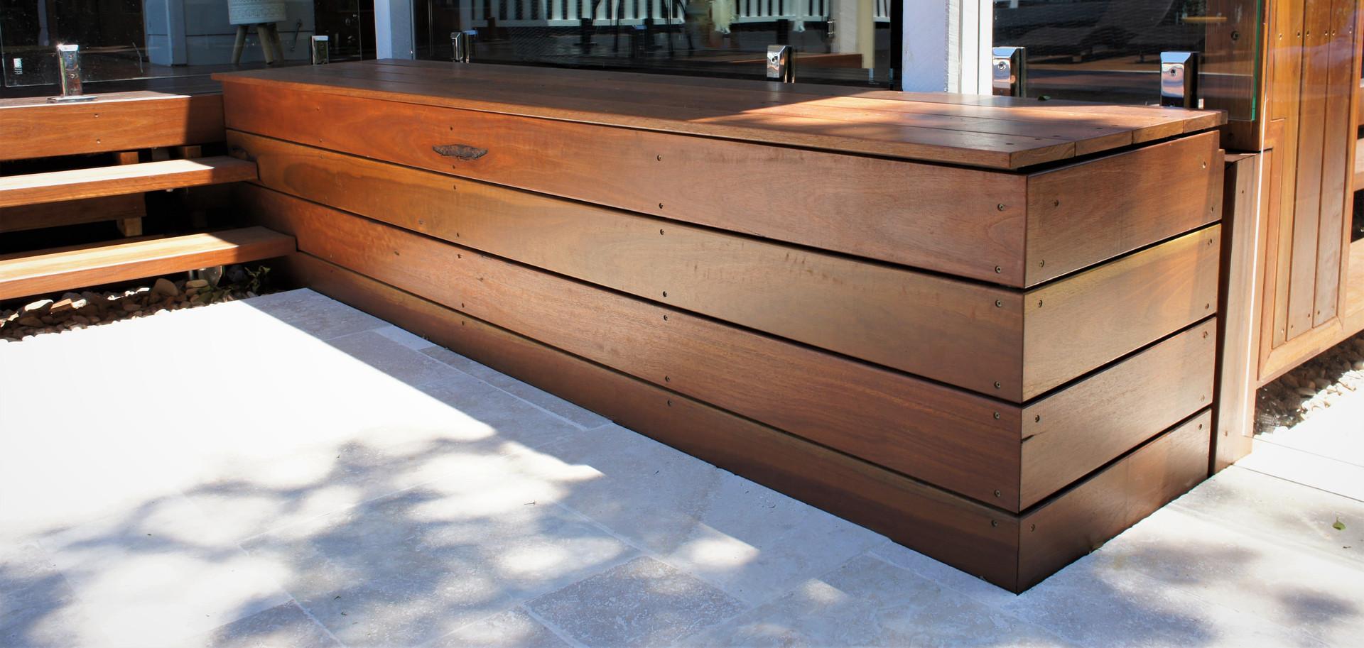 Deck seat box