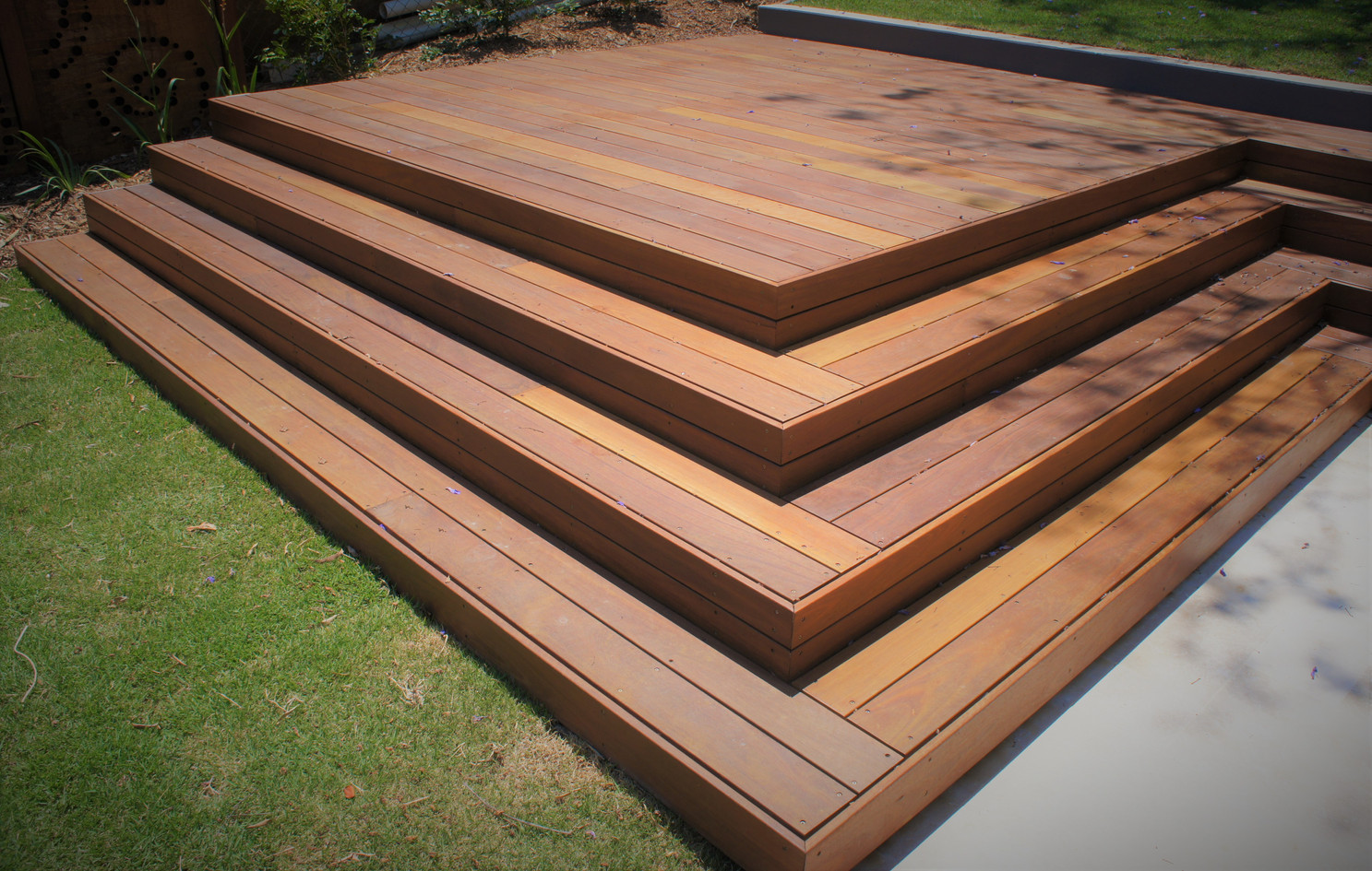 Steps In Spotted Gum Decking