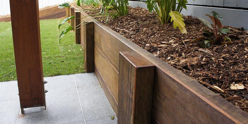 Timber retaining walls Brisbane