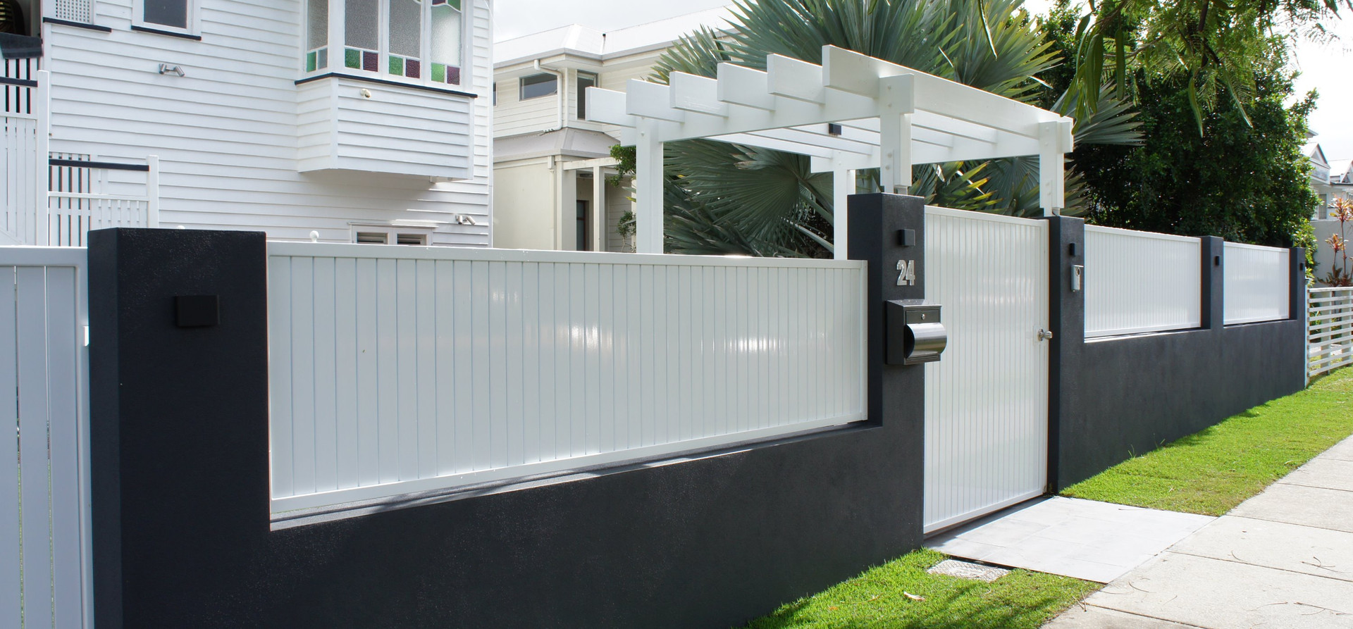 Ascot front fence and gate