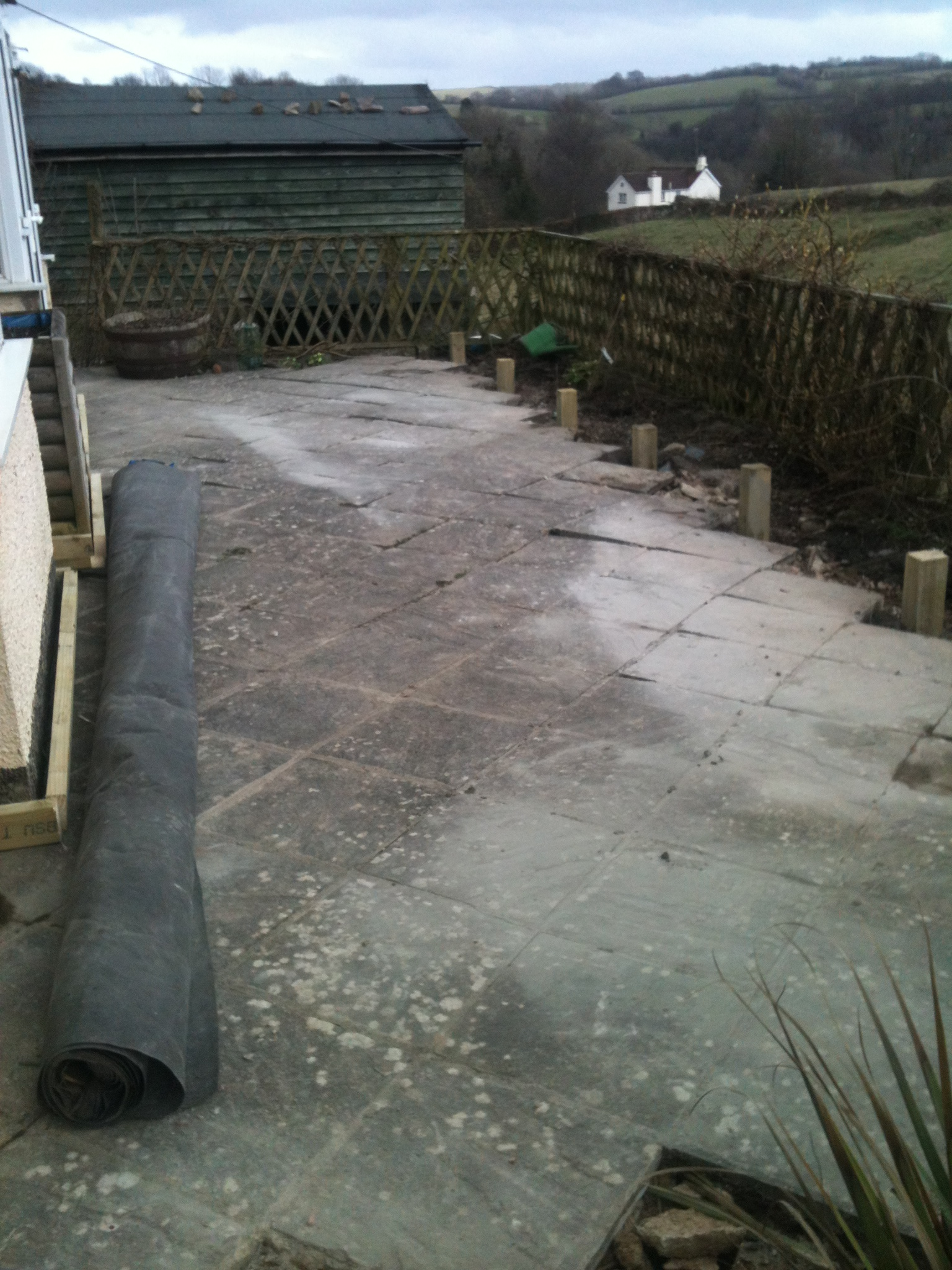 patio area converted to decking