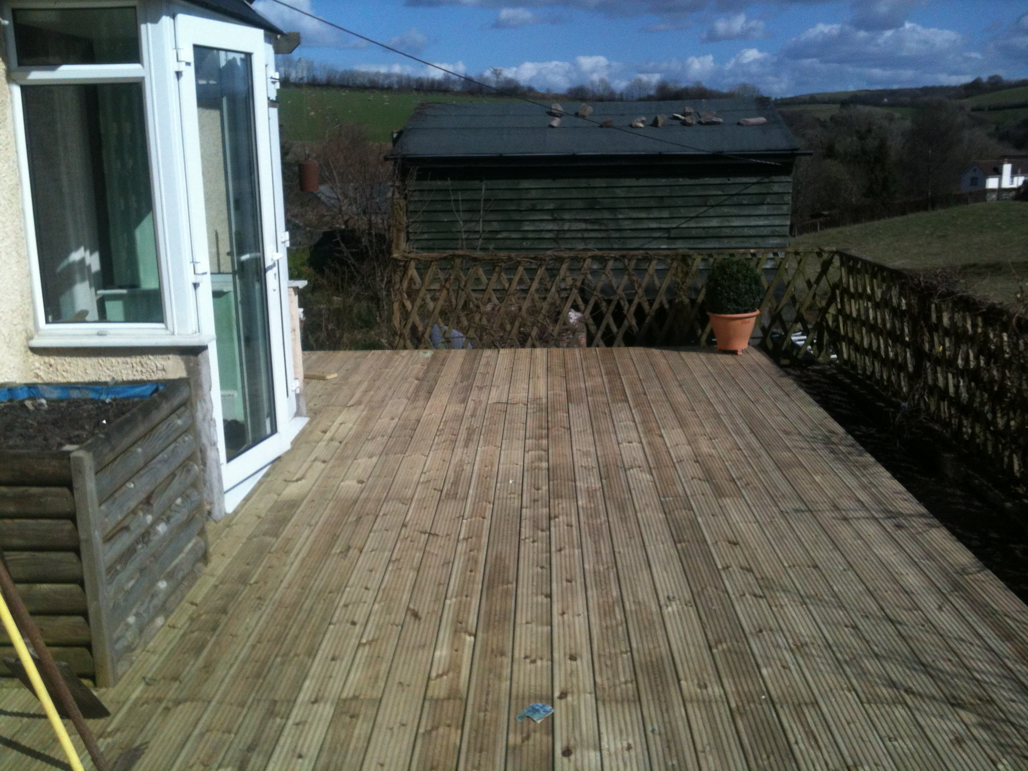 finished decking